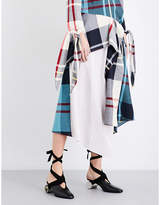 J.W.Anderson Patchwork asymmetric woven midi skirt