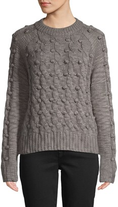 John & Jenn Cable-Knit Crewneck Sweater