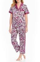 Cabernet Floral Satin Pajamas