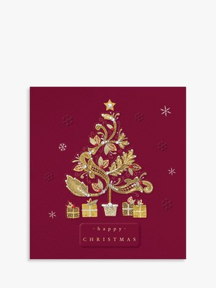 The Proper Mail Company Gold Tree Christmas Card