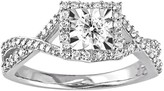 Sterling Silver 1/2 Carat T.W. Diamond Crisscross Ring