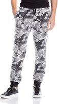 Southpole Men's Jogger Pants In French Terry with All Over Polka Dotted Camo Patterns