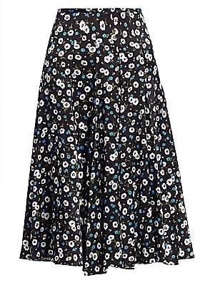 Michael Kors Women's Floral Silk Dance Skirt