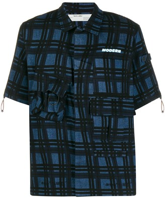 Off-White Check-Print Shirt