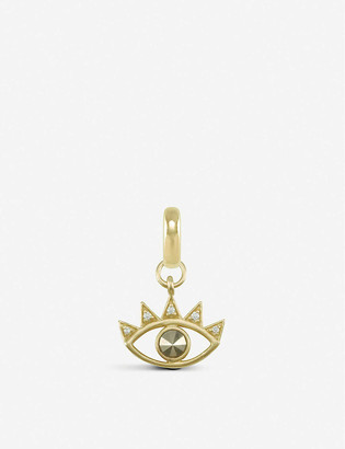 Kendra Scott Bright Eye 14ct gold-plated and pyrite charm