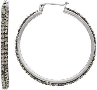Vera Wang Simply Vera Pave Nickel Free Hoop Earrings