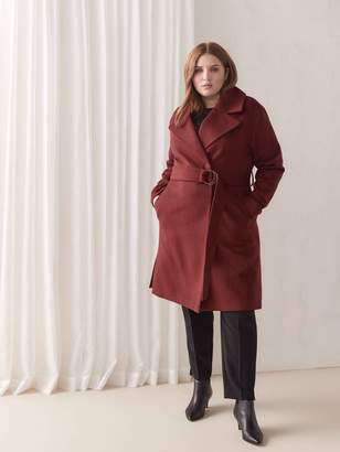 Belted Wrap Coat - Addition Elle
