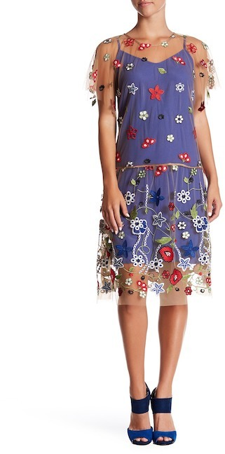 Mariella Rosati Borgo Embroidered Dress