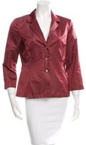 Lela Rose Notch-Lapel Long Sleeve Jacket