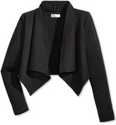 Epic Threads Metallic Drape-Front Jacket, Big Girls (7-16), Only at Macy's