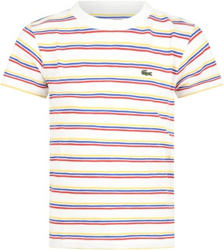Lacoste Multicolor T-shirt For Boy With Crocodile