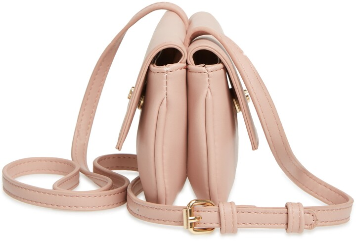 Thumbnail for your product : Mali & Lili Double Flap Vegan Leather Crossbody Bag
