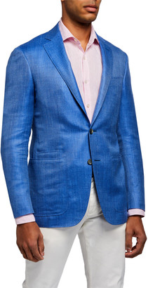 Canali Men's Solid Twill Two-Button Jacket