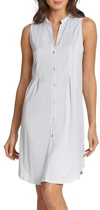 Hanro Cotton Deluxe Button-Front Tank Gown