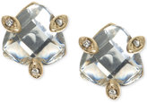 lonna & lilly Gold-Tone Faceted Stone Stud Earrings