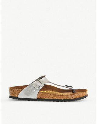 Birkenstock Faux-leather thong sandals