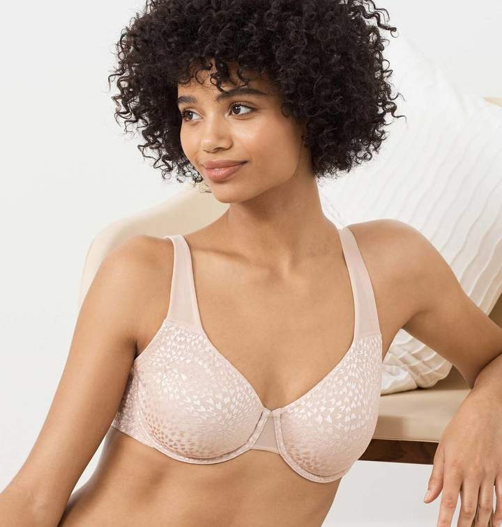 True & Co. True&Co. True Lingerie Sheer Lynx Unlined Ultimate Coverage Bra