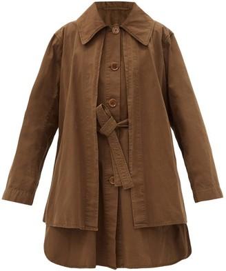 Lemaire Layered Cotton-ventile Coat - Dark Khaki