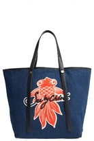See by Chloe Applique Denim Tote - Blue