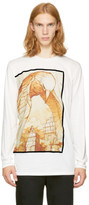 3.1 Phillip Lim White Long Sleeve Raven T-shirt
