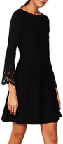 Mint Velvet Lace Cuff Knitted Dress, Black