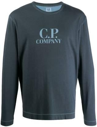 C.P. Company logo printed long sleeved top