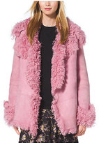 Michael Kors Cropped Shearling Coat