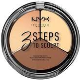 NYX 3 Steps To Sculpt Face Sculpting Palette,0.54 Ounce