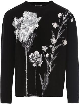 Valentino Flowersity Intarsia Knit Sweater