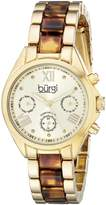 Burgi Women's BUR130YG Analog Display Swiss Quartz Two Tone Watch