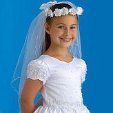 Haddad Girls Wreath Communion Veil