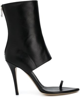 Natasha Zinko Open Toe High Heel Boots