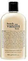 philosophy French Vanilla Bean Shampoo, Shower Gel & Bubble Bath