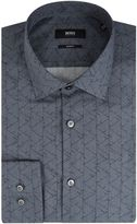 HUGO BOSS Men's Jenno Slim Fit Geo Print Shirt