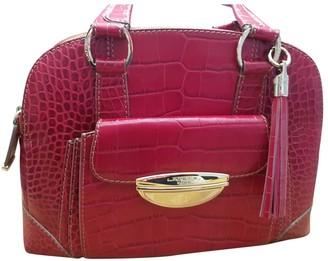 Lancel Adjani Pink Leather Handbags