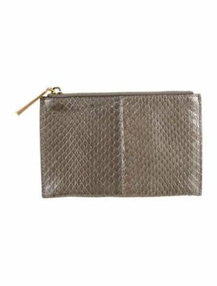 Fendi Python Zip Clutch Grey