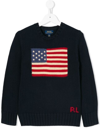 Ralph Lauren Kids USA flag jumper