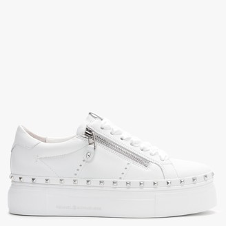 Kennel + Schmenger Nano White Leather Studded Chunky Trainers