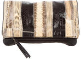Diane von Furstenberg Embossed Fold-Over Clutch