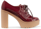 RED Valentino Derby Patent-Leather Platform Pumps