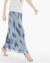 Chico's Ocean Watercolor Maxi Skirt