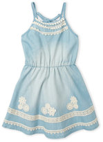 Hannah Banana Girls 4-6X) Lace-Up Racerback Chambray Dress