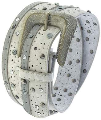 Fashion Bella Crystal Dotted Leather-Belt