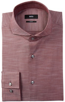 HUGO BOSS Dwayne Twill Slim Fit Dress Shirt