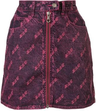 Ground Zero Zipped Denim Skirt
