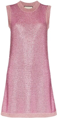 Gucci Strass crystal knit tunic dress