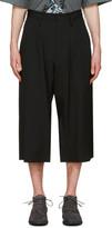 Yohji Yamamoto Black Wide-leg Cropped Trousers