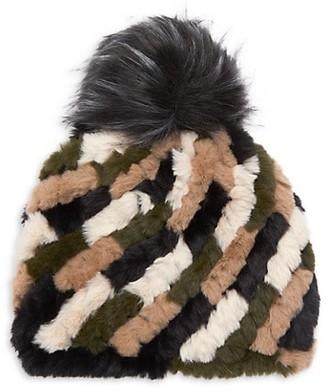 Jocelyn Faux Fur Pom Knit Hat