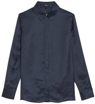 Theory Polka Dot Classic Straight Shirt