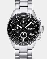 Fossil Decker Silver-Tone Chronograph Watch
